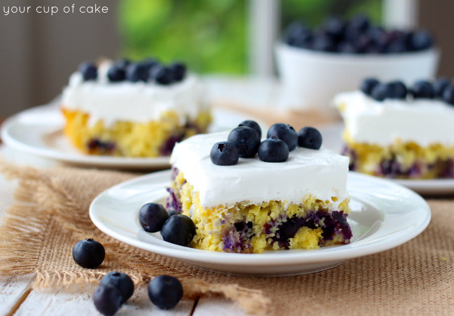 Yellow Cake Mix Recipes With Blueberries
