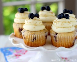 Cinnamon Blueberry Cupcakes
