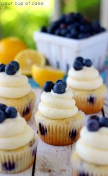 Lemon Blueberry Cake Mix Cupcakes
