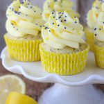 Lemon Poppy Seed Cupcakes with Quick Lemon Mousse