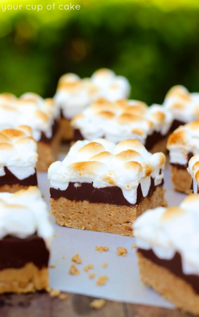 No Bake Peanut Butter Smore Bars