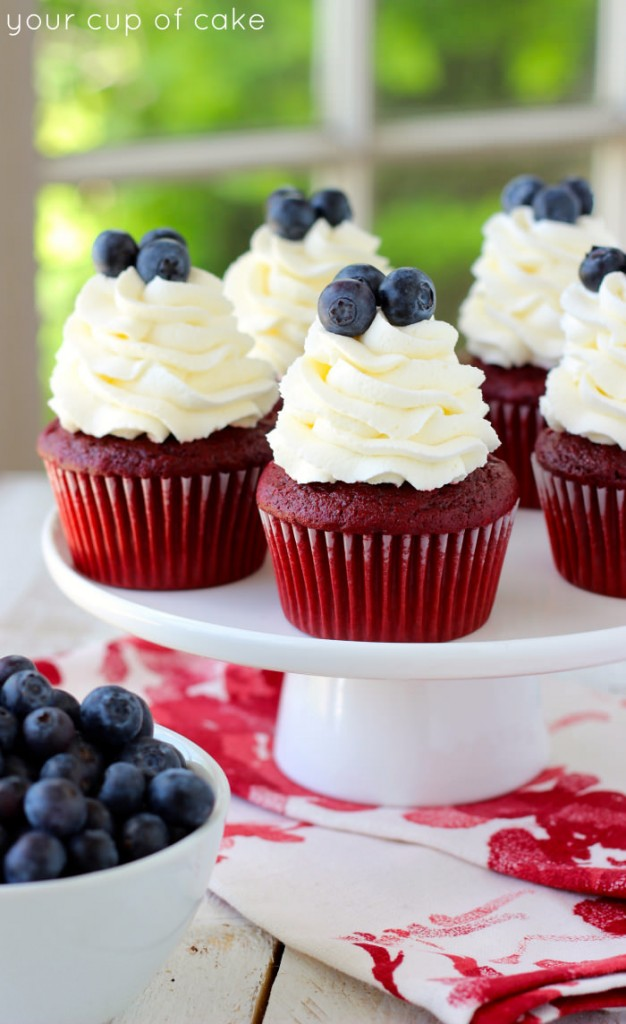 Red Velvet Cupcakes for 4th of July