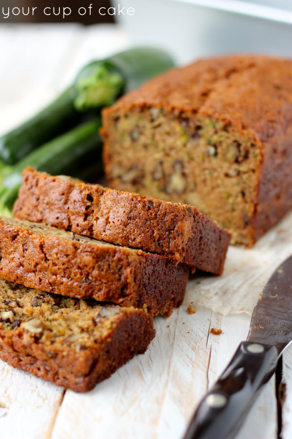 Zucchini Bread - Your Cup of Cake