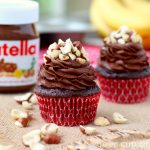 Chocolate Banana Nutella Cupcakes