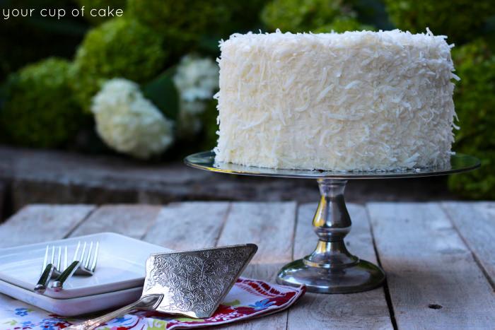 Chocolate Coconut Cake Decorating