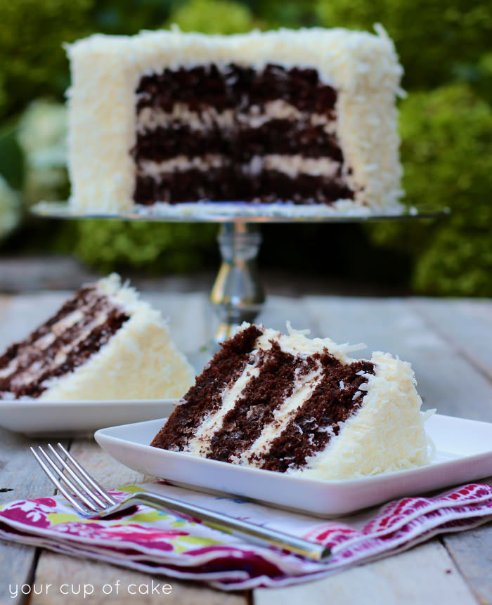Easy Chocolate Coconut Cake