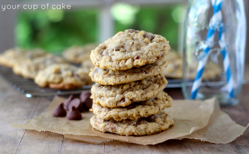Lizzy's Famous Oatmeal Chocolate Chip Cookies - Your Cup of Cake