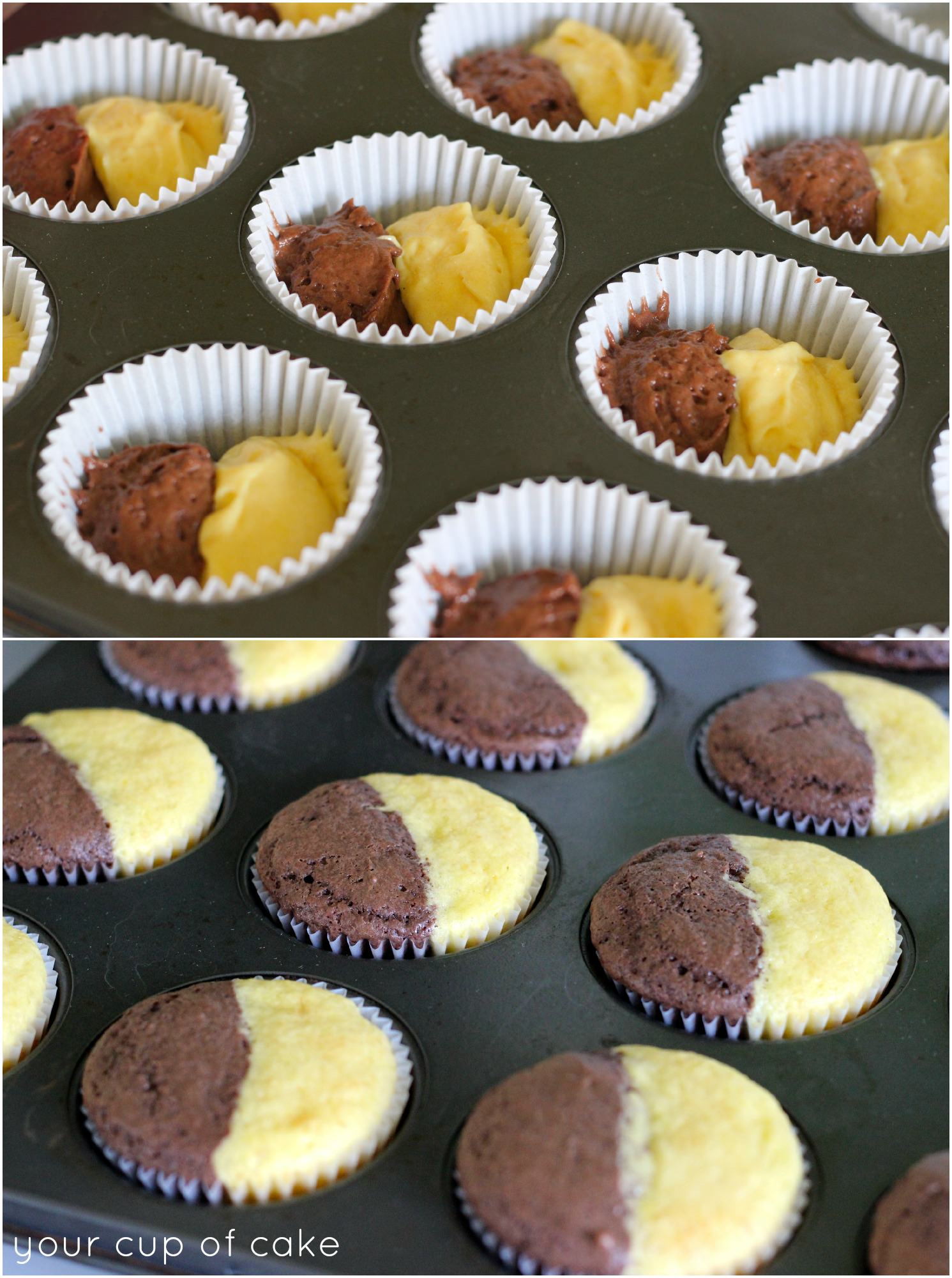 How to make split cupcakes