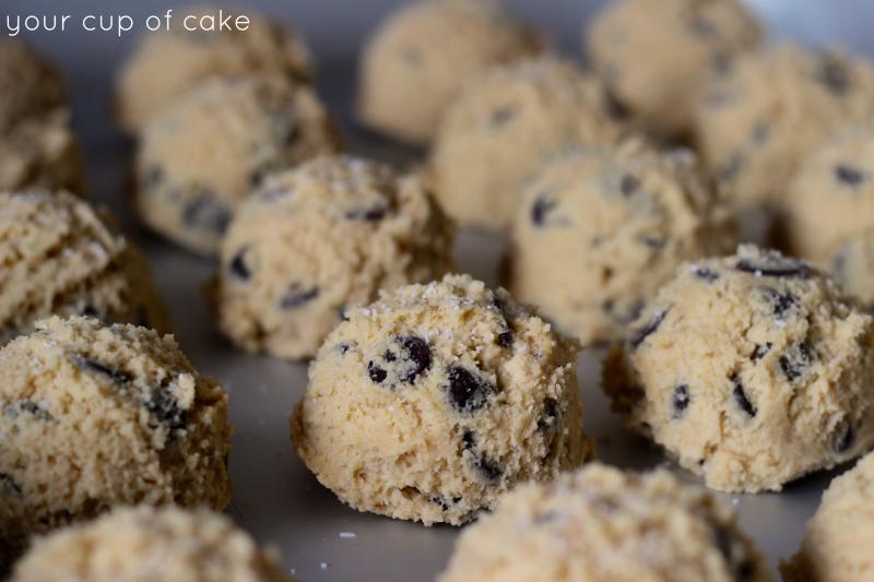 Salt on chocolate chip cookies