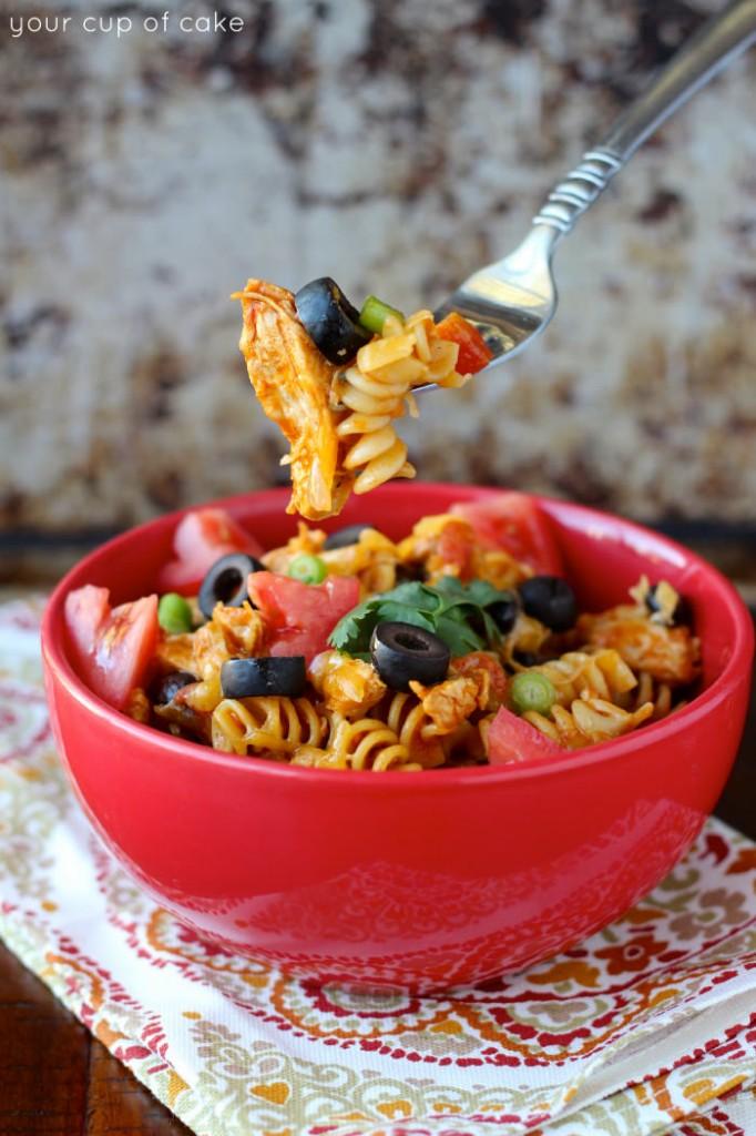 1 pot chicken enchilada pasta recipe