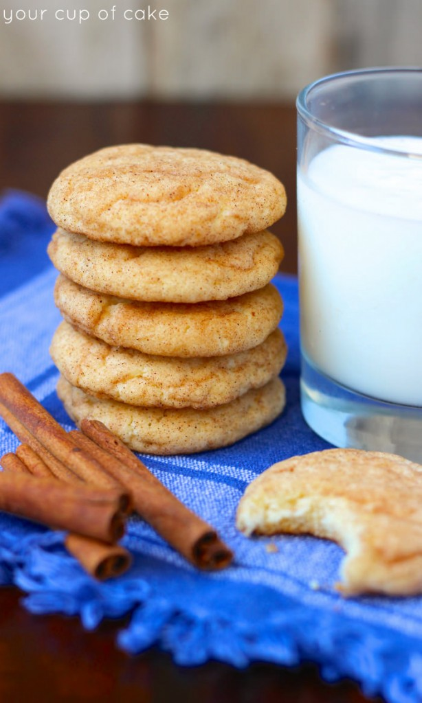 Cake Mix Snickerdoodles - Your Cup of Cake