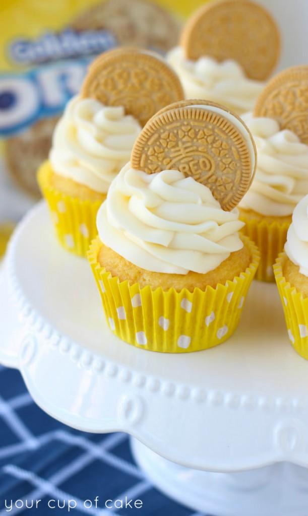 Golden Oreo Cupcake