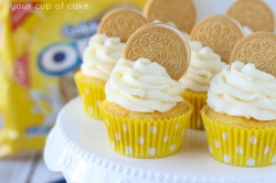 Golden Oreo Cupcakes