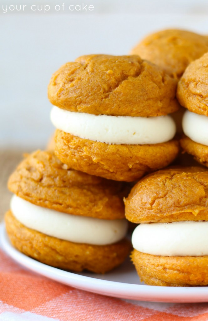 Pumpkin Cheesecake Whoopie Pies