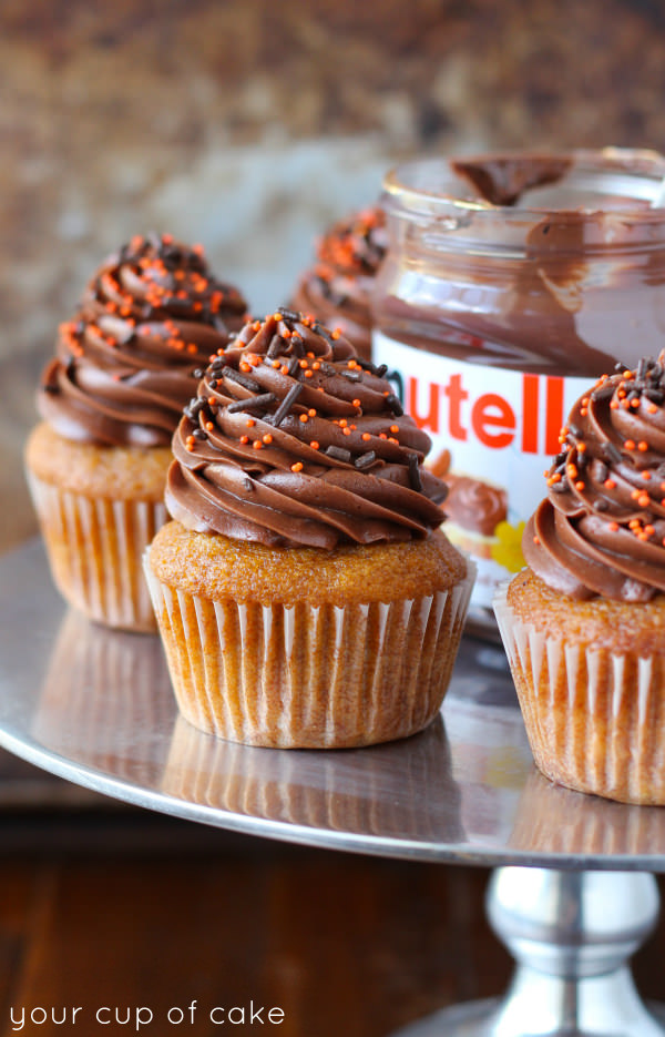 Pumpkin Nutella Cupcakes - Your Cup of Cake