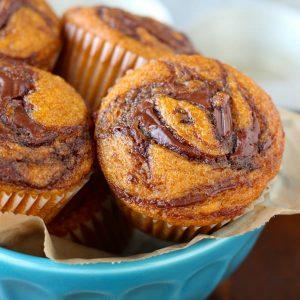 Pumpkin Nutella Muffins