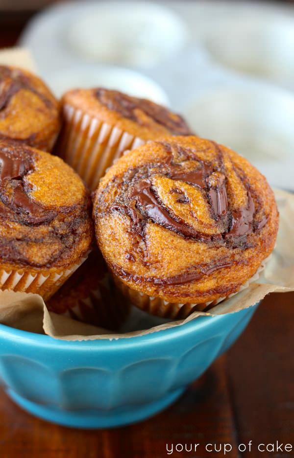Pumpkin Nutella Muffin Recipe