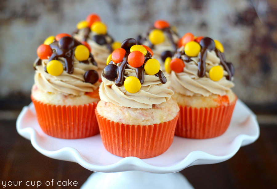 Reese's Pieces Cupcake