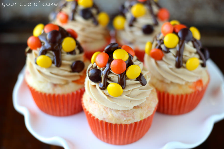reeses pieces cupcake