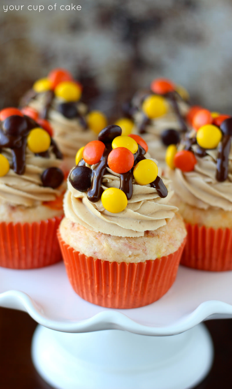 Reese's Pieces Cupcakes