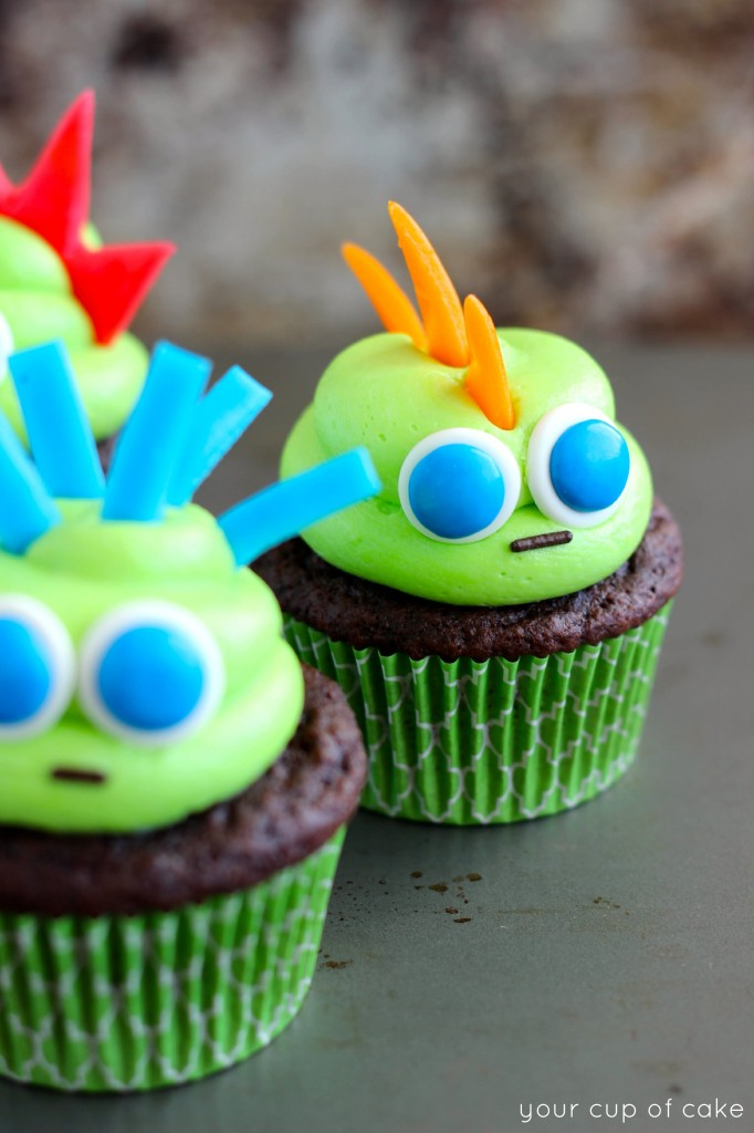 Air Head Halloween Cupcake
