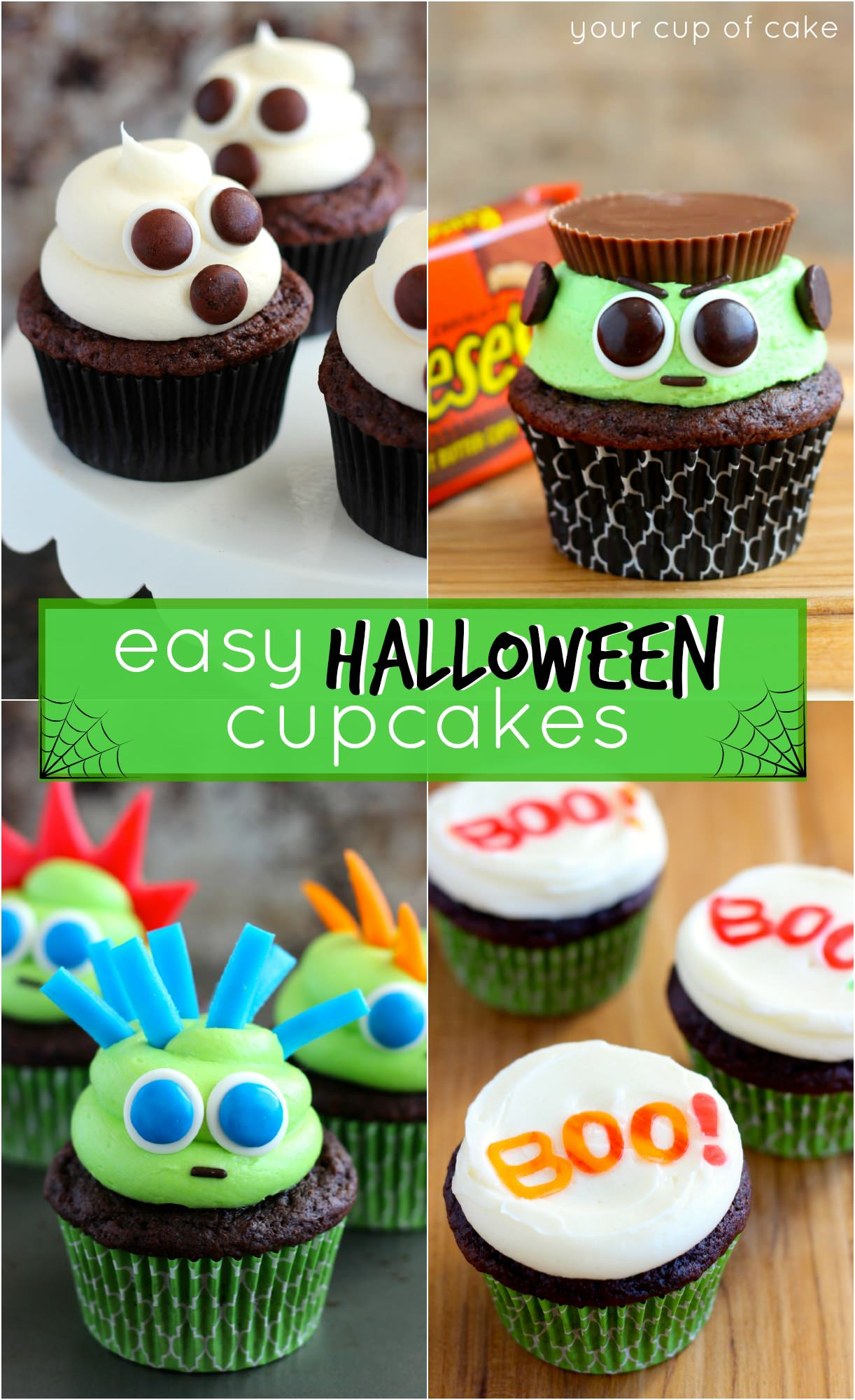 easy halloween cupcake ideas - Decorating Cupcakes For Halloween