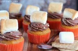 Pumpkin Nutella S'mores Cupcakes
