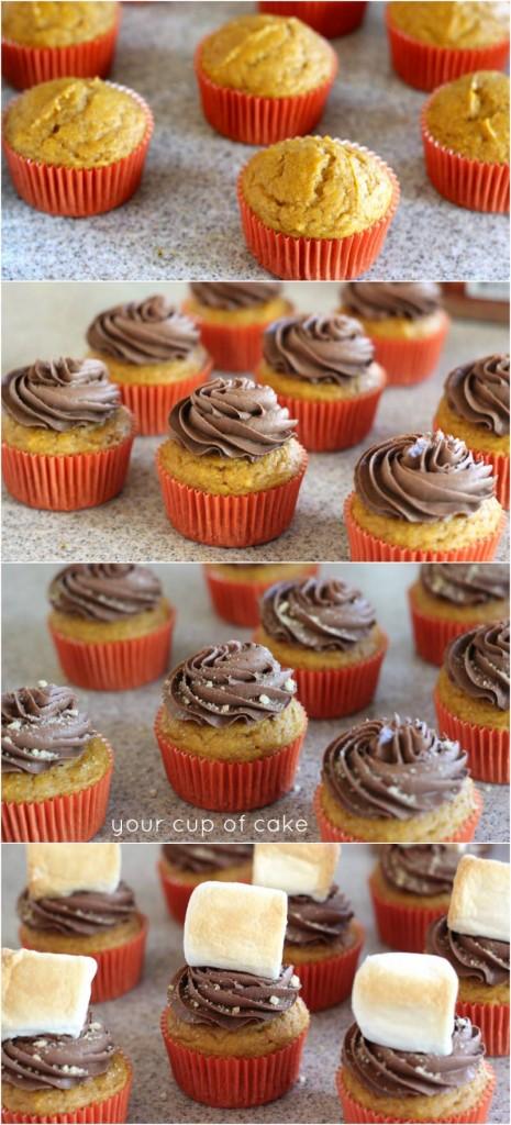 Pumpkin Nutella Smores Cupcakes photo