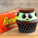 Reese's Frankenstein Cupcakes