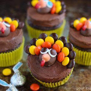 Turkey Cupcakes – Thanksgiving Cupcake Decorating
