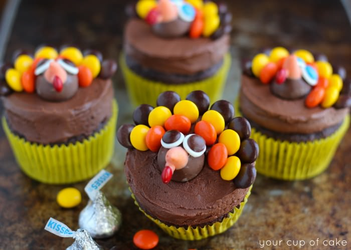 Turkey Cupcakes - Thanksgiving Cupcake Decorating - Your ...