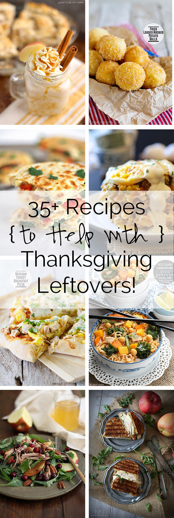 This Thanksgiving, lets be creative in the kitchen as I have a round up of 35+ recipes to use every last bit of those Thanksgiving leftovers!
