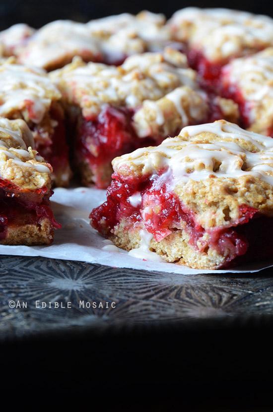 Cranberry Oat Jam Bars | Edible Mosaic