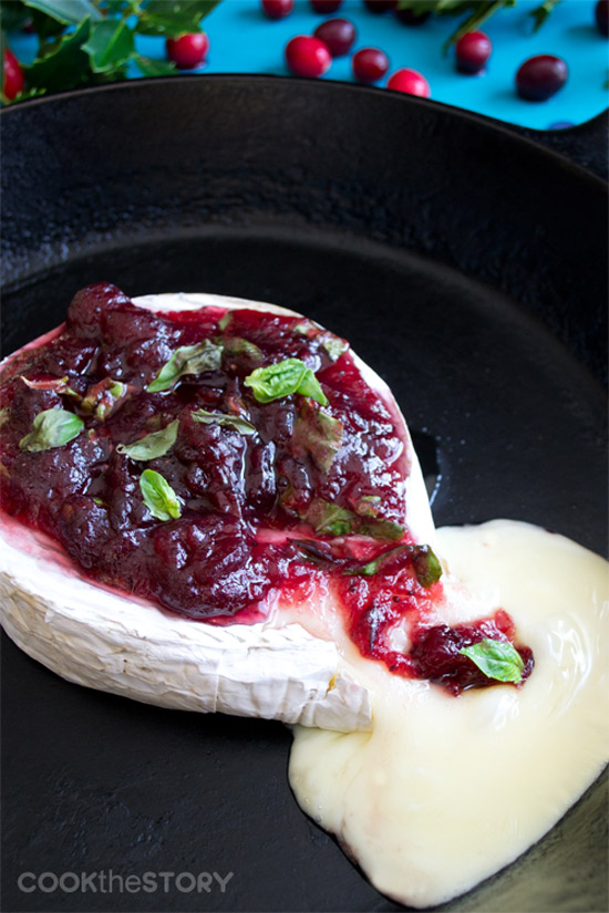 Baked Brie with Cranberry, Basil & Lemon | Cook The Story