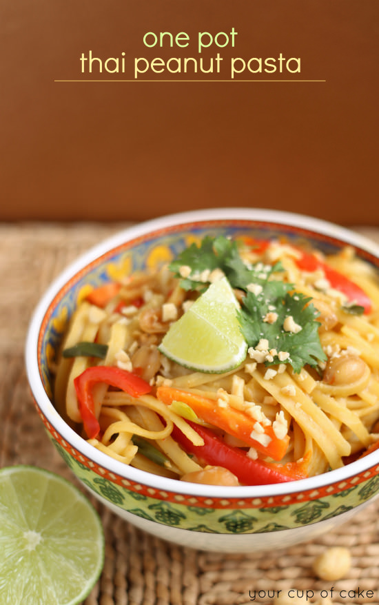 Easy One Pot Thai Peanut Pasta