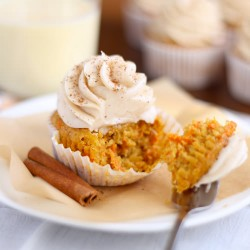 Eggnog Carrot Cupcakes