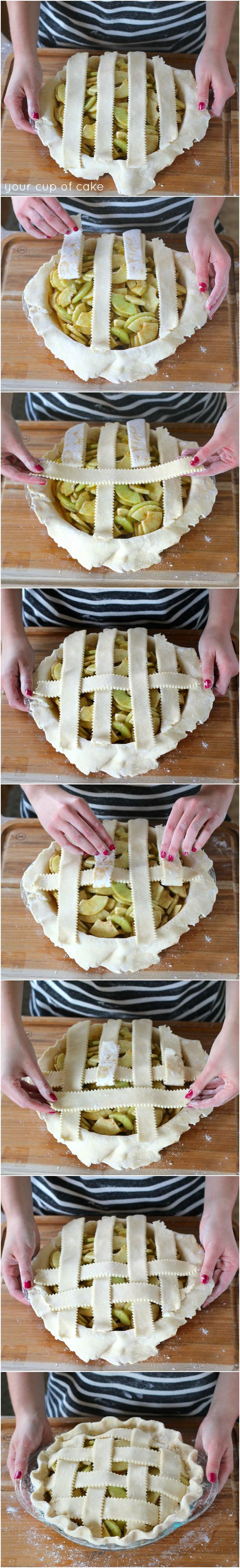 How to lattice a pie