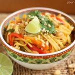 One Pot Thai Peanut Pasta