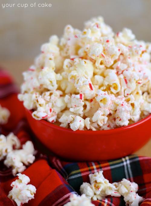 Peppermint Bark Popcorn Recpe