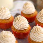 Pumpkin Eggnog Cupcakes
