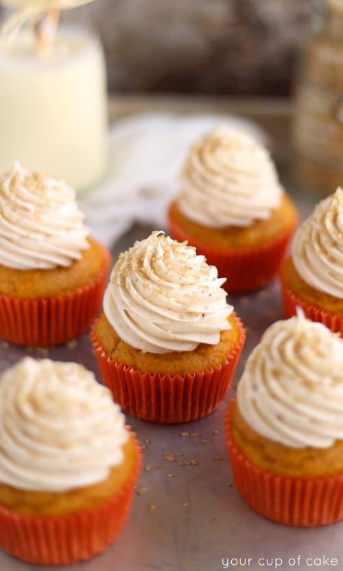 Pumpkin Eggnog Cupcake recipe