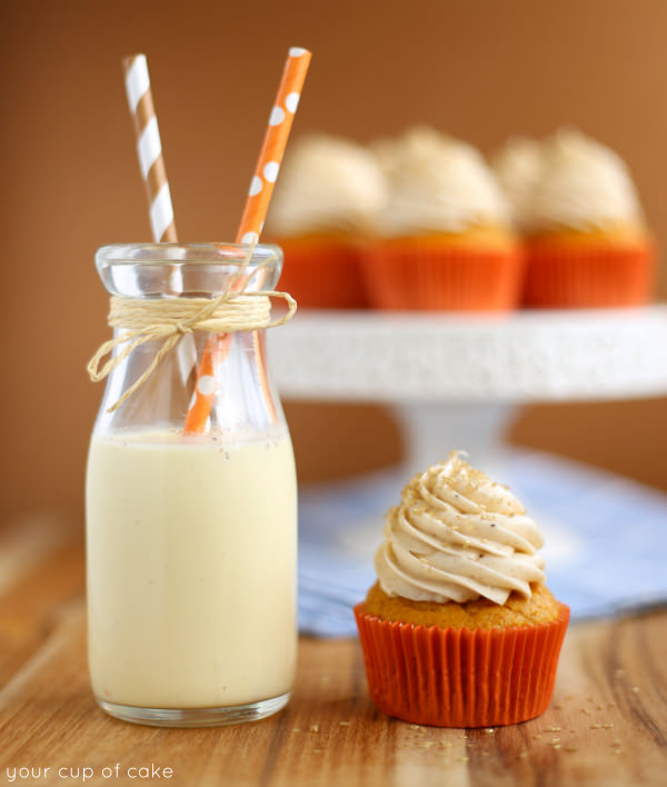 Pumpkin Eggnog Cupcake