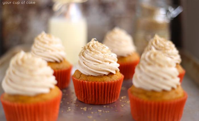 Pumpkin Eggnot Cupcakes