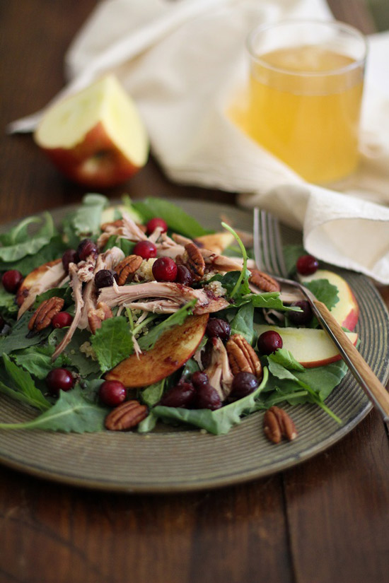 Thanksgiving Leftovers Salad with Cranberry Vinaigrette | The Roasted Root