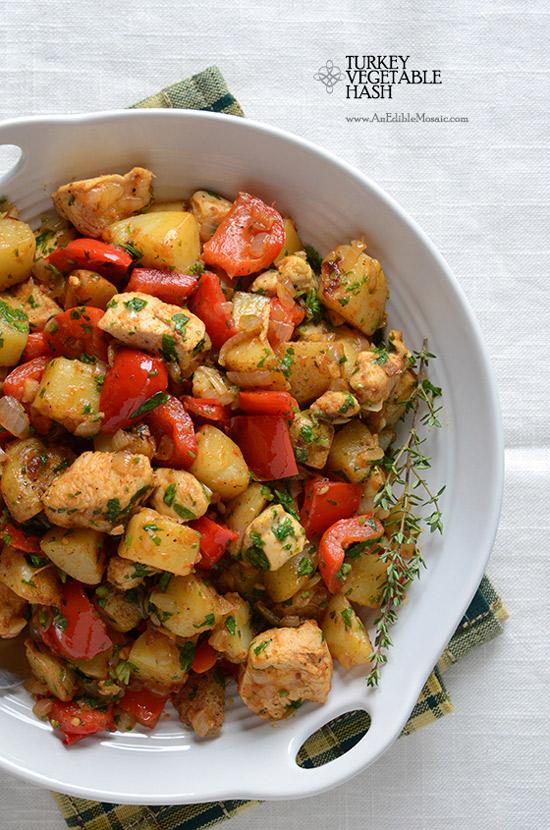 Turkey Vegetable Hash | Edible Mosaic