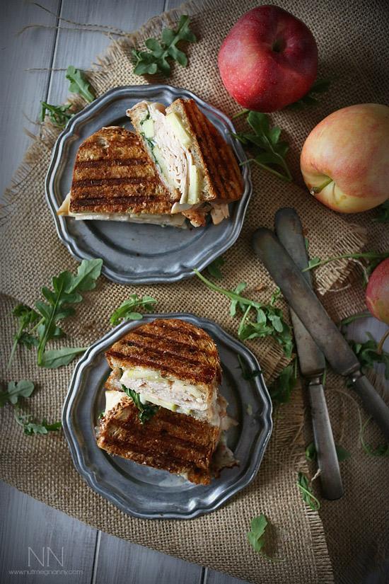 Turkey Apple Brie Panini with Honey Mustard Maple Mayo | Nutmeg Nanny
