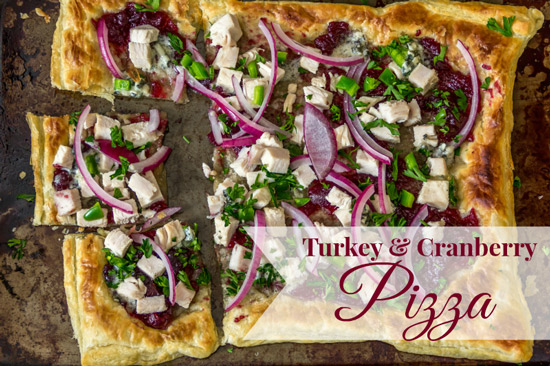 Turkey, Cranberry & Blue Cheese Pizza | Around My Family Table