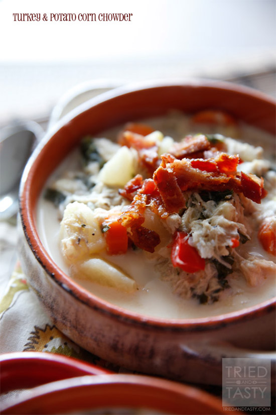 Turkey & Potato Corn Chowder | Tried and Tasty