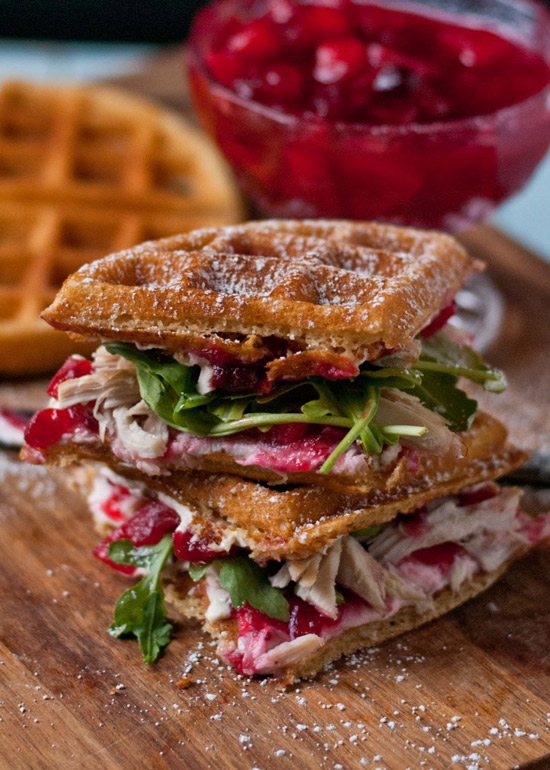 Waffled Cranberry Cream Cheese Turkey Sandwiches | Neighbor Food