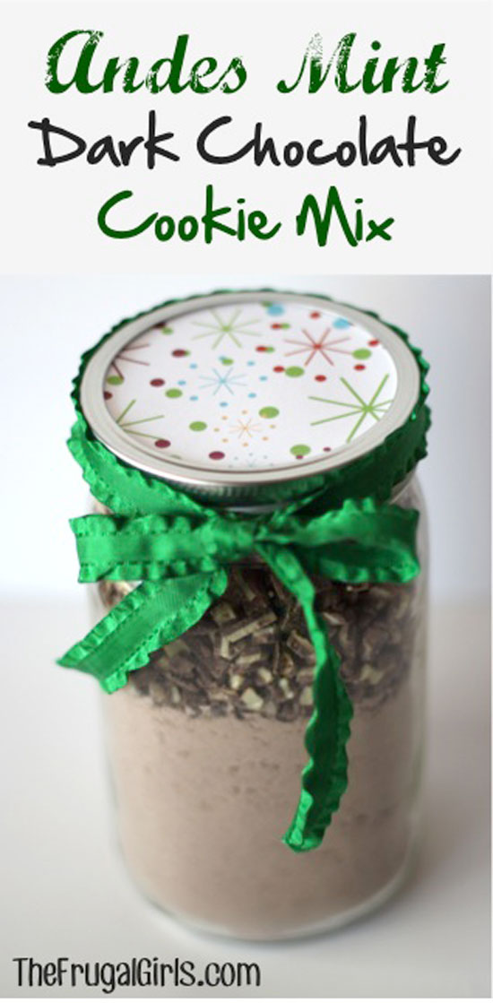 Andes Mint Cookie Mix Gift in a Jar | The Frugal Girls